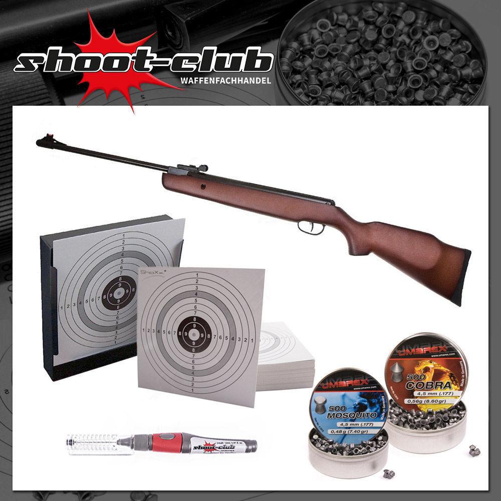 Hämmerli Black Force 550 Luftgewehr 4,5mm inkl. Kugelfang & Diabolos