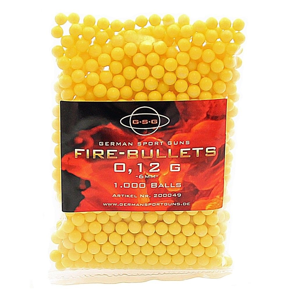 1000 Softair BBs GSG Fire Bullets / Kaliber 6 mm / 0,12 g
