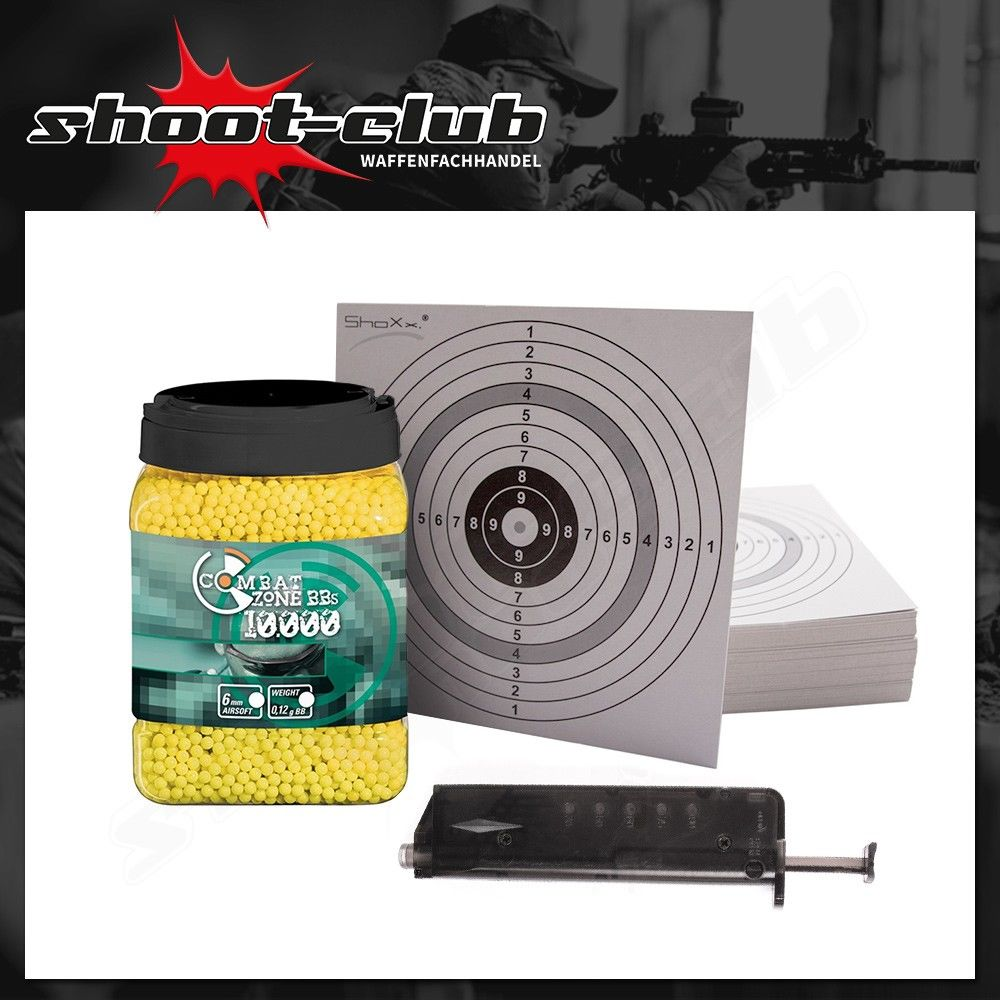 10000 Combat Zone Softair BBs 6mm 0,12g + Speedloader