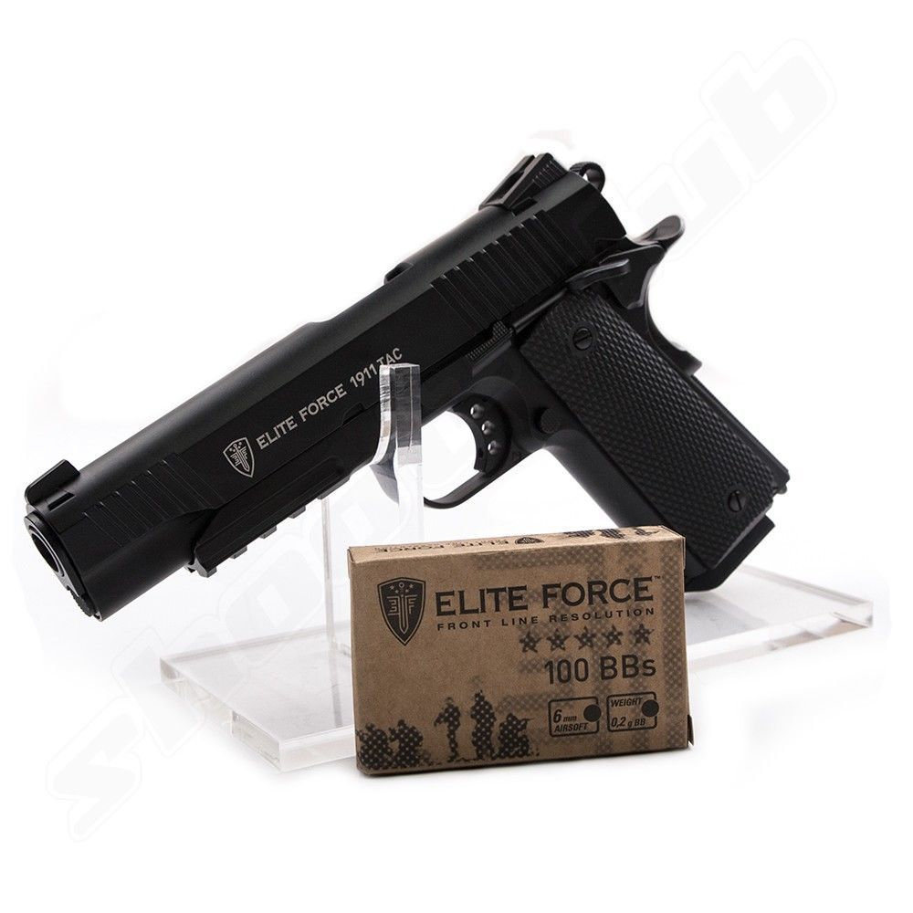 KWC Elite Force 1911 TAC Airsoft CO2 GBB Pistole ab18 Bild 3