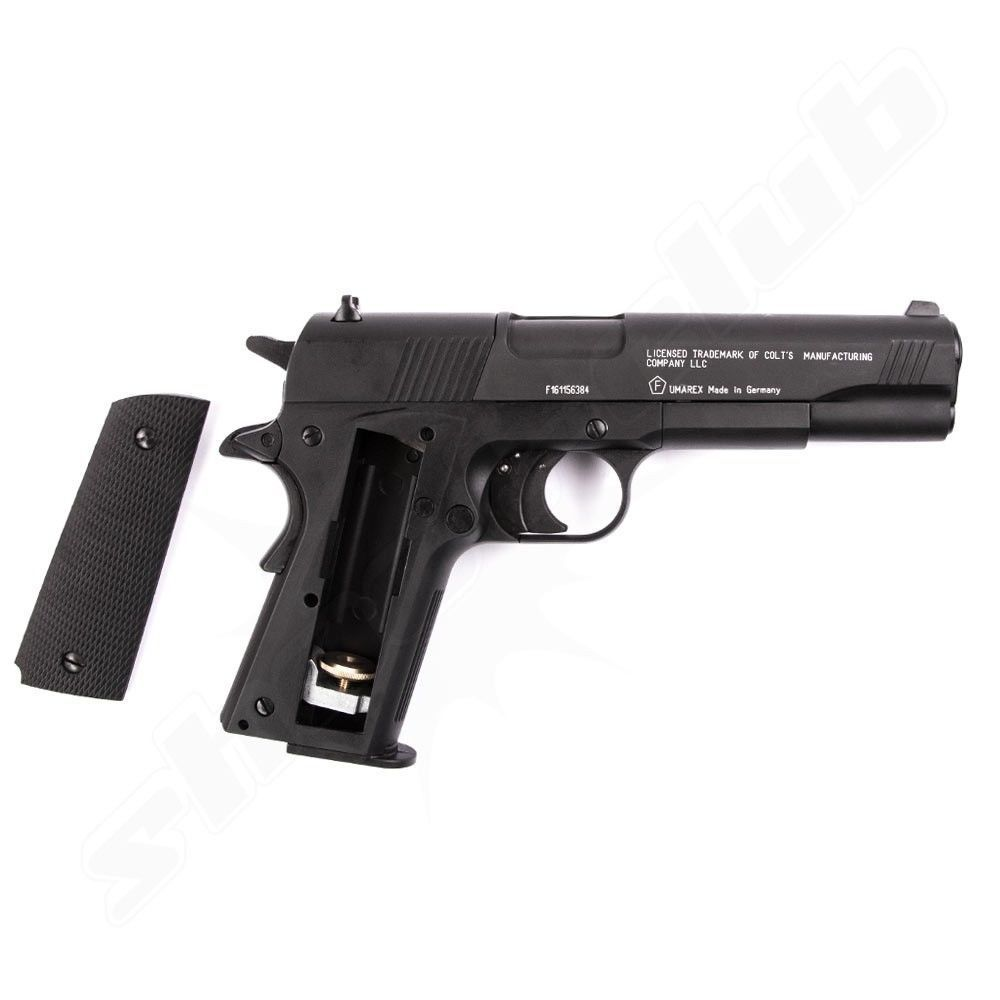Colt Government 1911 A1 CO2 Pistole 4,5 mm - Set Bild 4