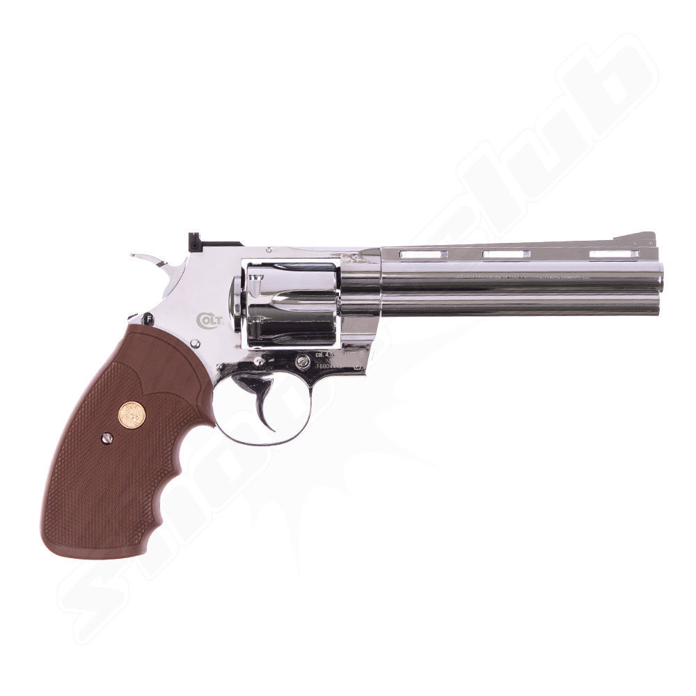 Colt Python 6 CO2 Revolver in Nickel - 4,5mm Stahl BB Bild 2