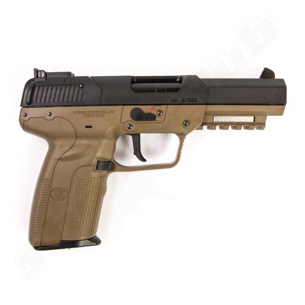 FN Herstal Five-seveN Softair Pistole Co2 GBB Marushin 6 mm 1 Joule TAN Bild 3