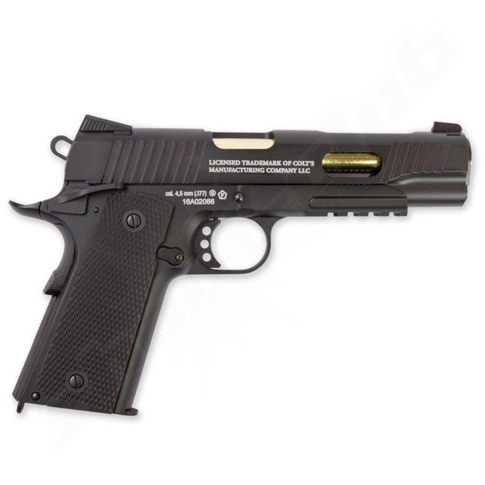 Colt 1911 Custom CO2 Pistole 4,5mm Stahl BB - Blowback Bild 3