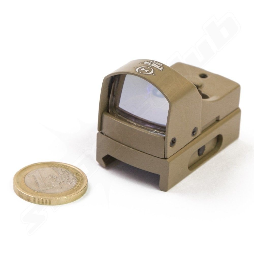 Theta Optics Micro Red Dot Sight für Softair TAN Bild 2