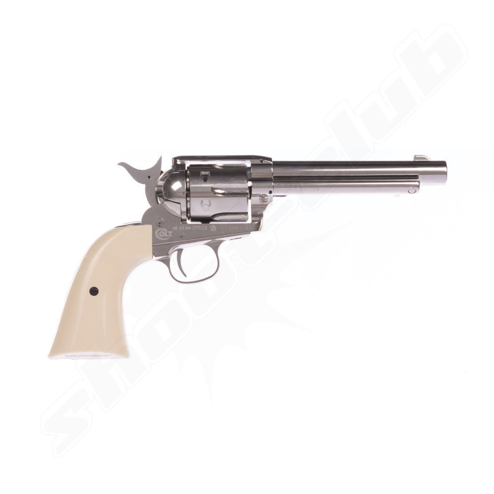 Colt SAA .45 Nickel CO2-Revolver 4,5mm Diabolos - Set Bild 3