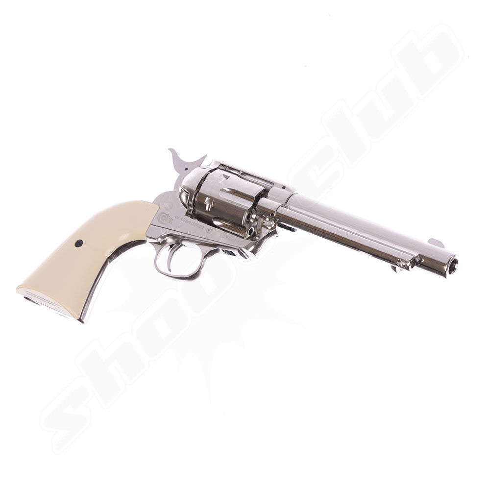 Colt SAA .45 Nickel CO2-Revolver 4,5mm Diabolos - Set Bild 4