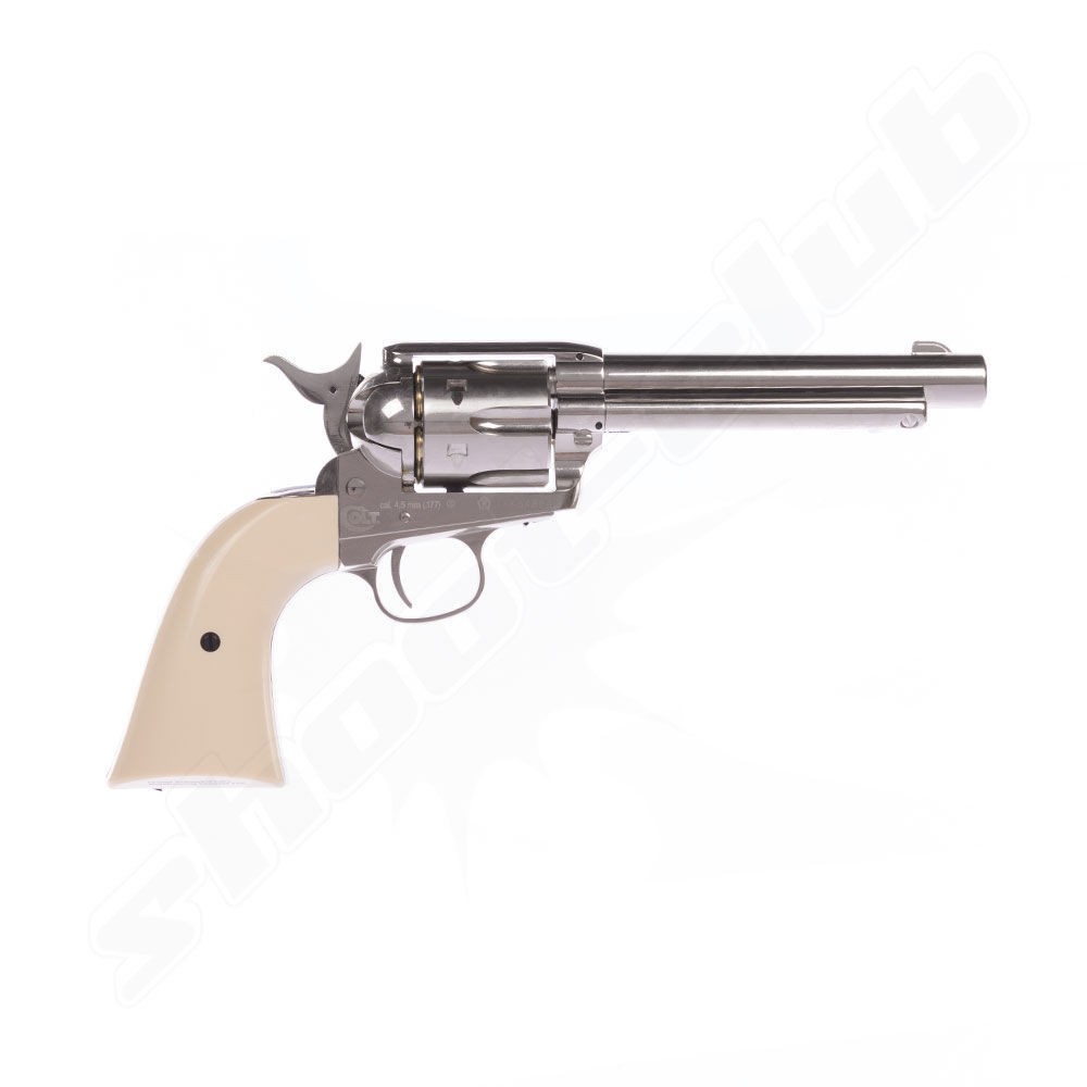 COLT SAA .45 Peacemaker CO2-Revolver 4,5mm BB - Nickel Bild 3