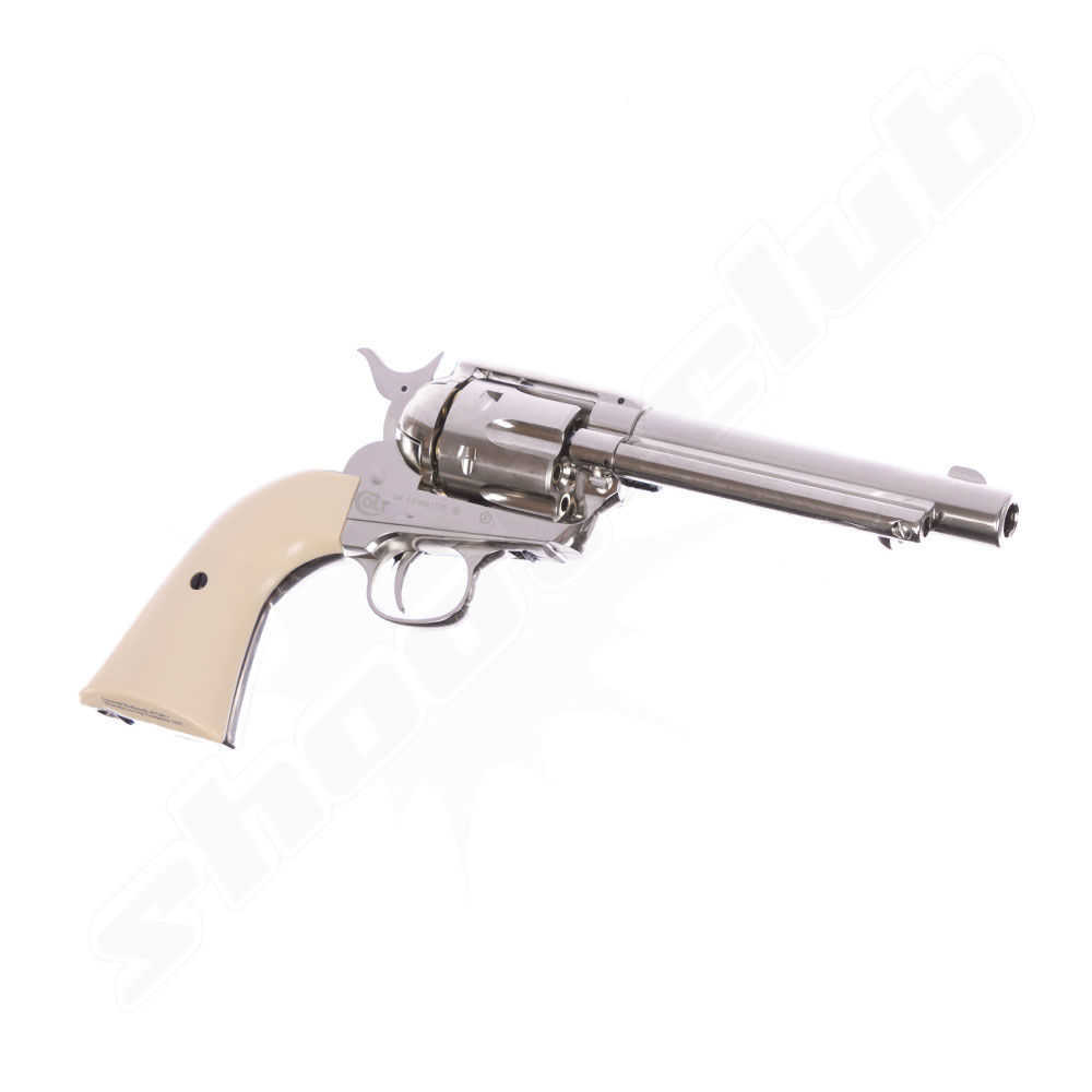 COLT SAA .45 Peacemaker CO2-Revolver 4,5mm BB - Nickel Bild 2
