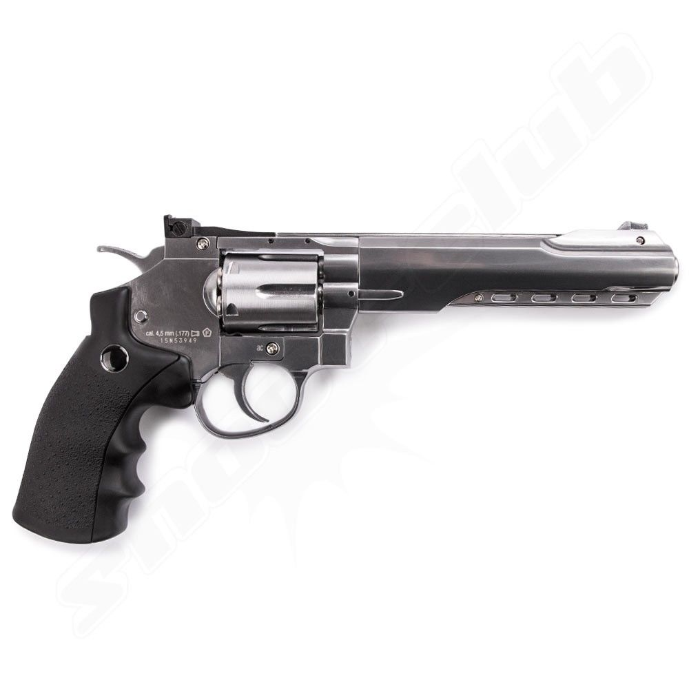 Umarex Legends S60 6'' CO2 Revolver 4,5mm(.177) Diabolo Nickel Bild 2