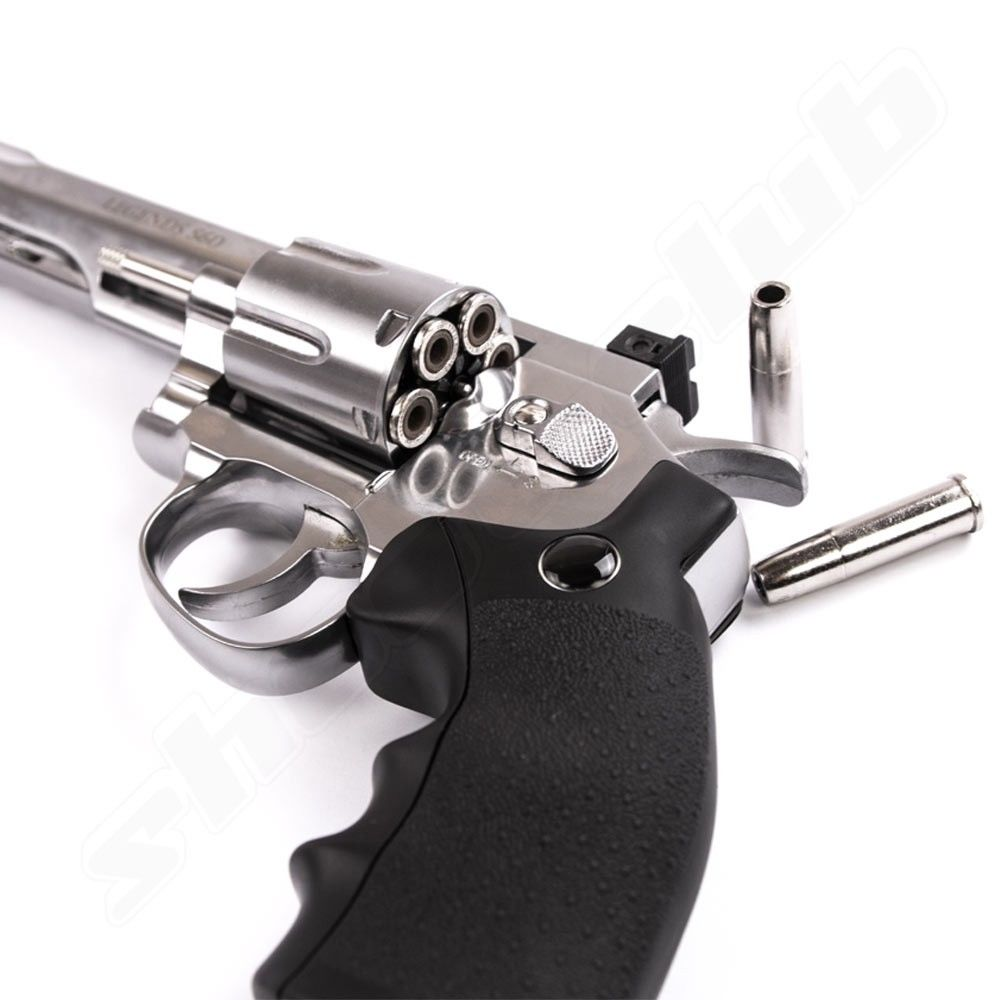 Umarex Legends S60 6'' CO2 Revolver 4,5mm(.177) Diabolo Nickel Bild 3