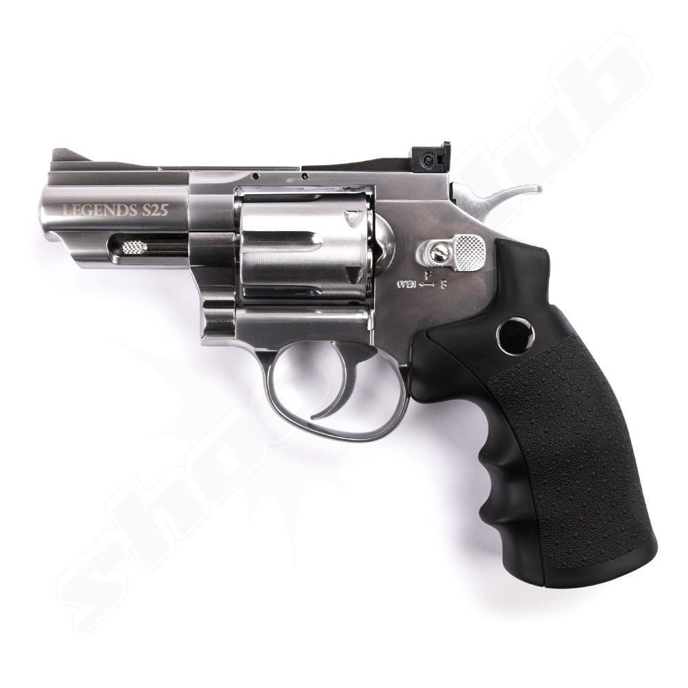 Legends S25 CO2 Revolver Nickel 4,5mm Diabolos - Koffer-Set Bild 4