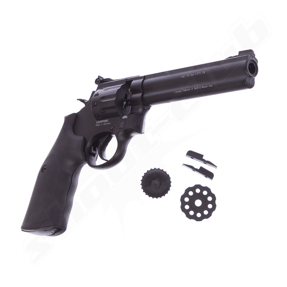 Smith & Wesson 686 6 CO2 Revolver 4,5mm Diabolos - graphite black Bild 3