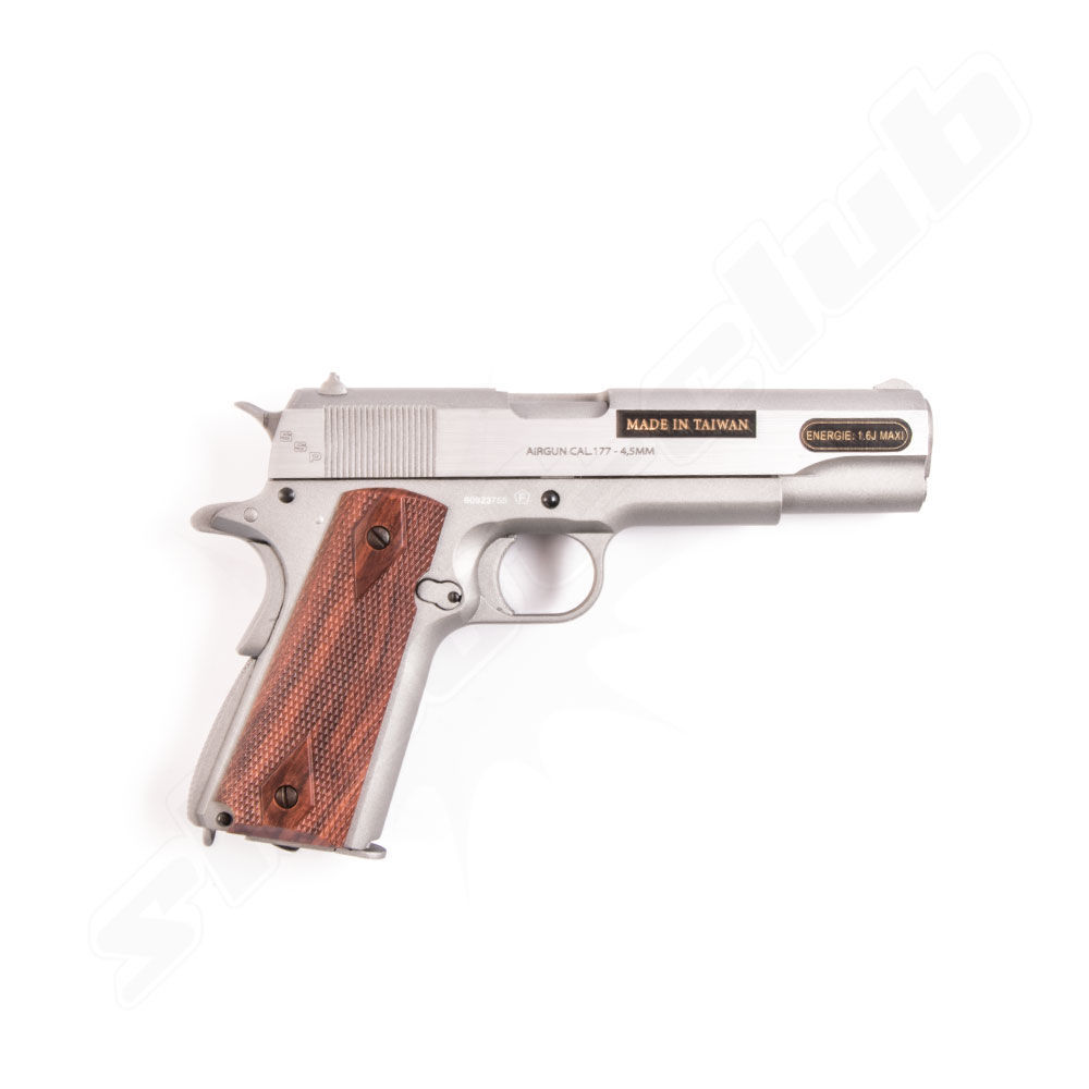 Swiss Arms 1911 Stainless CO2 Pistole 4,5mm Stahl BB Bild 2