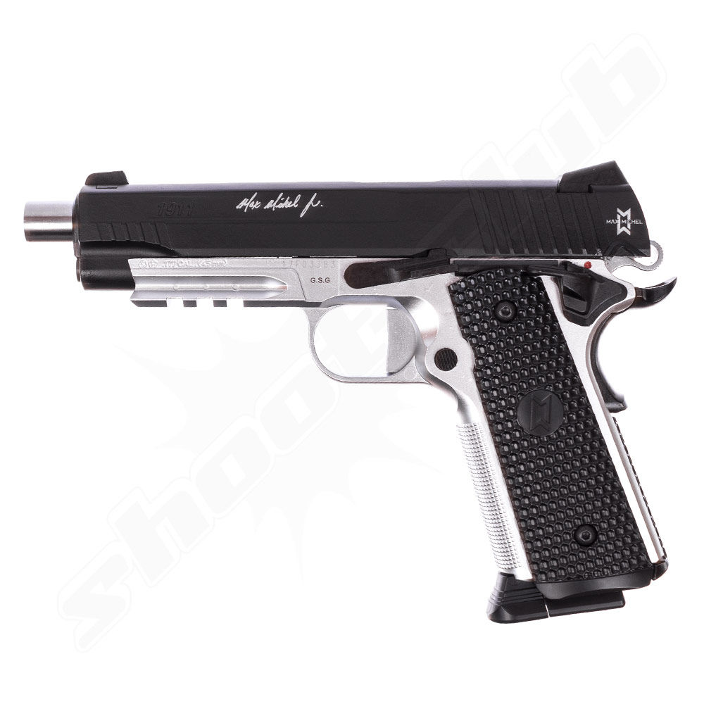 GSG 1911 MAX MICHAEL CO2 Pistole 4,5mm BBs - Koffer Set Bild 4