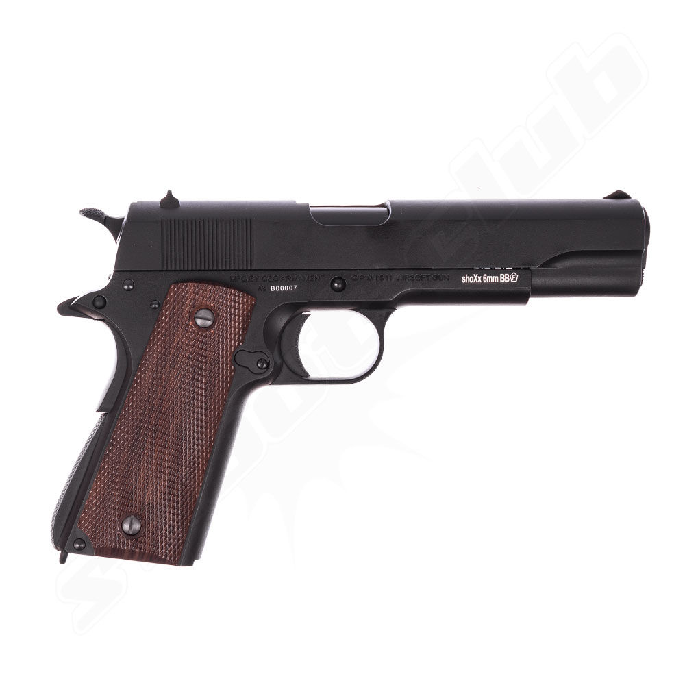 G&G GPM1911 6mm Airsoft Pistole ab18 Black - Gas Blow Back Bild 2