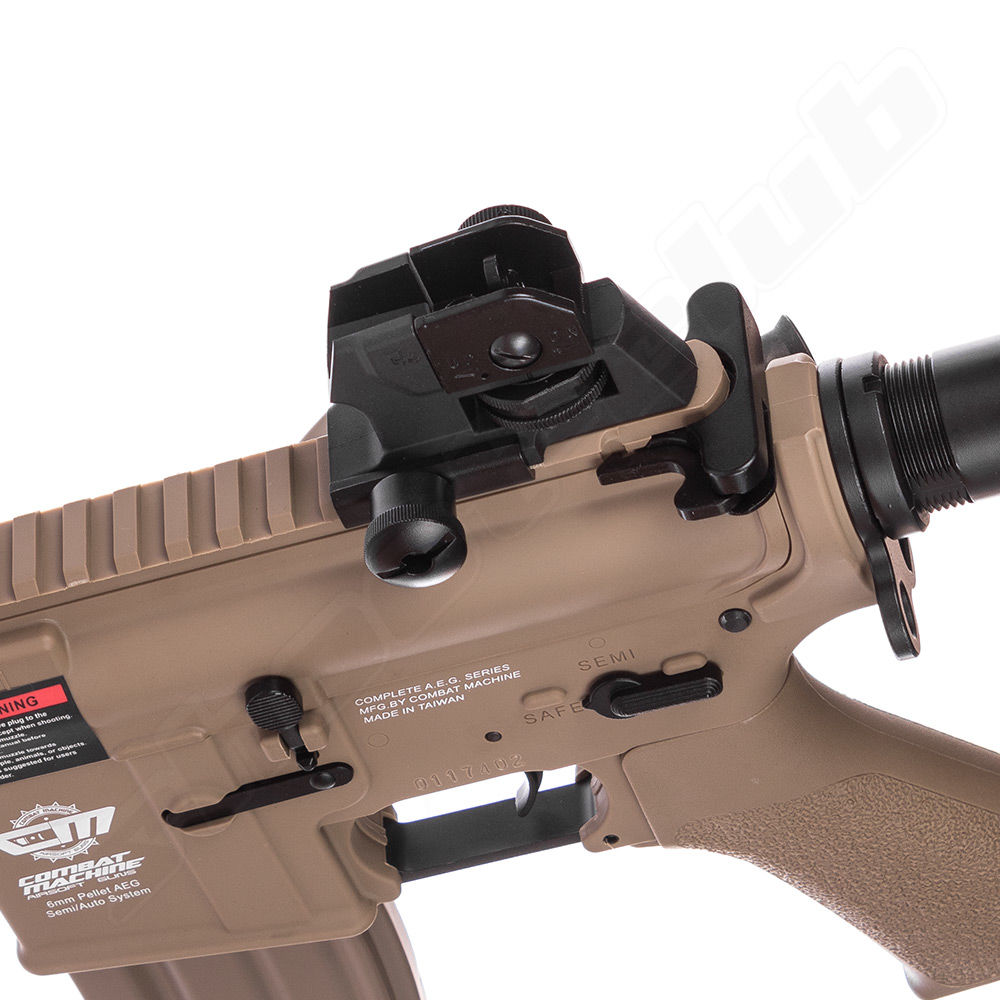 G&G CM16 Raider L AEG TAN 0,5 J 6mm Airsoft ab14 - Set Bild 5