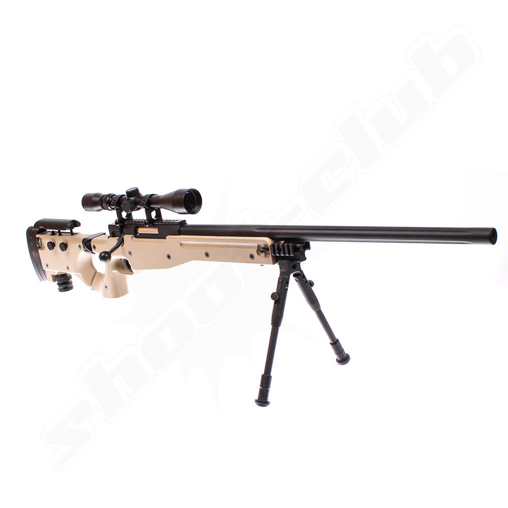 Well AW .338 Airsoft Sniper MB08 Starter Set TAN - Upgraded Bild 3
