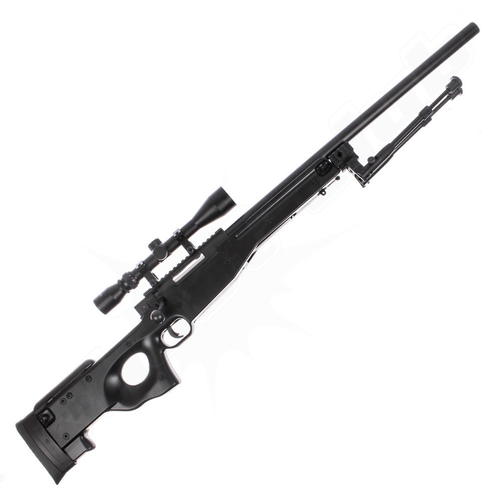 Well L96 MB-01 Upgraded Airsoft Sniper Set schwarz - 2,6 Joule Bild 2
