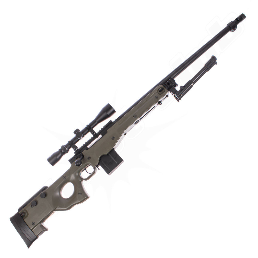 Well L96 AWP FH Airsoft Sniper Starter Set OD Green Upgraded Bild 2