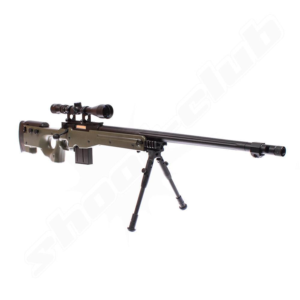 Well L96 AWP FH Airsoft Sniper Starter Set OD Green Upgraded Bild 3