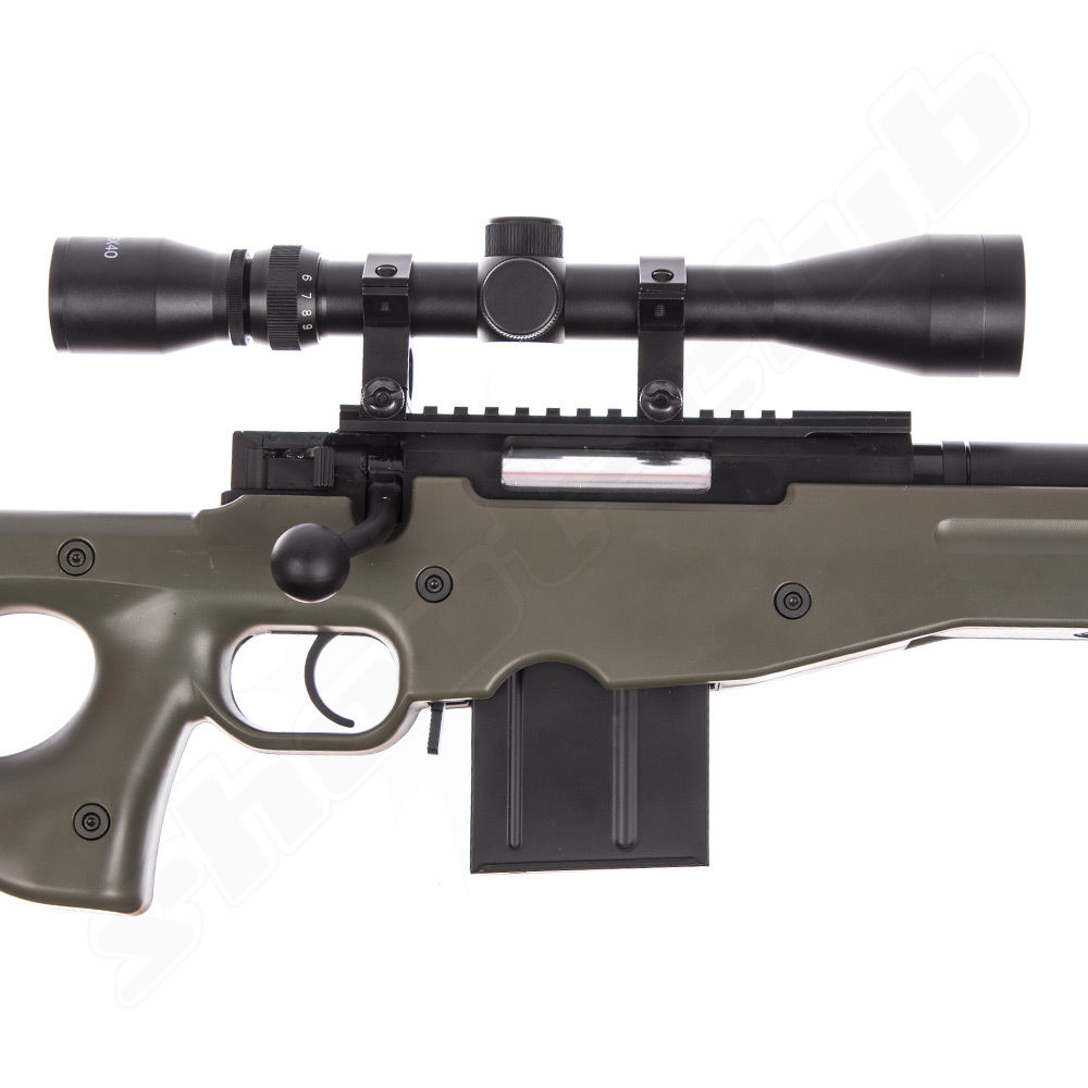 Well L96 AWP FH Airsoft Sniper Starter Set OD Green Upgraded Bild 4