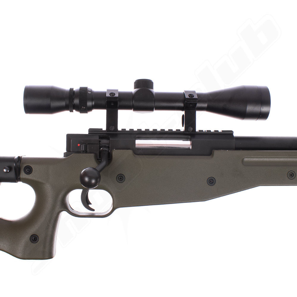 Well AW .338 Airsoft Sniper MB08 Starter Set OD Green / Upgraded Bild 3