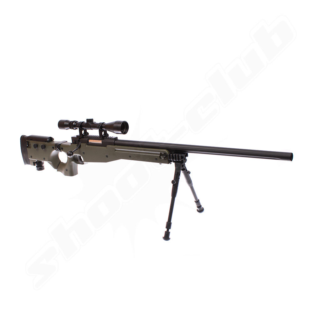 Well AW .338 Airsoft Sniper MB08 Starter Set OD Green / Upgraded Bild 5