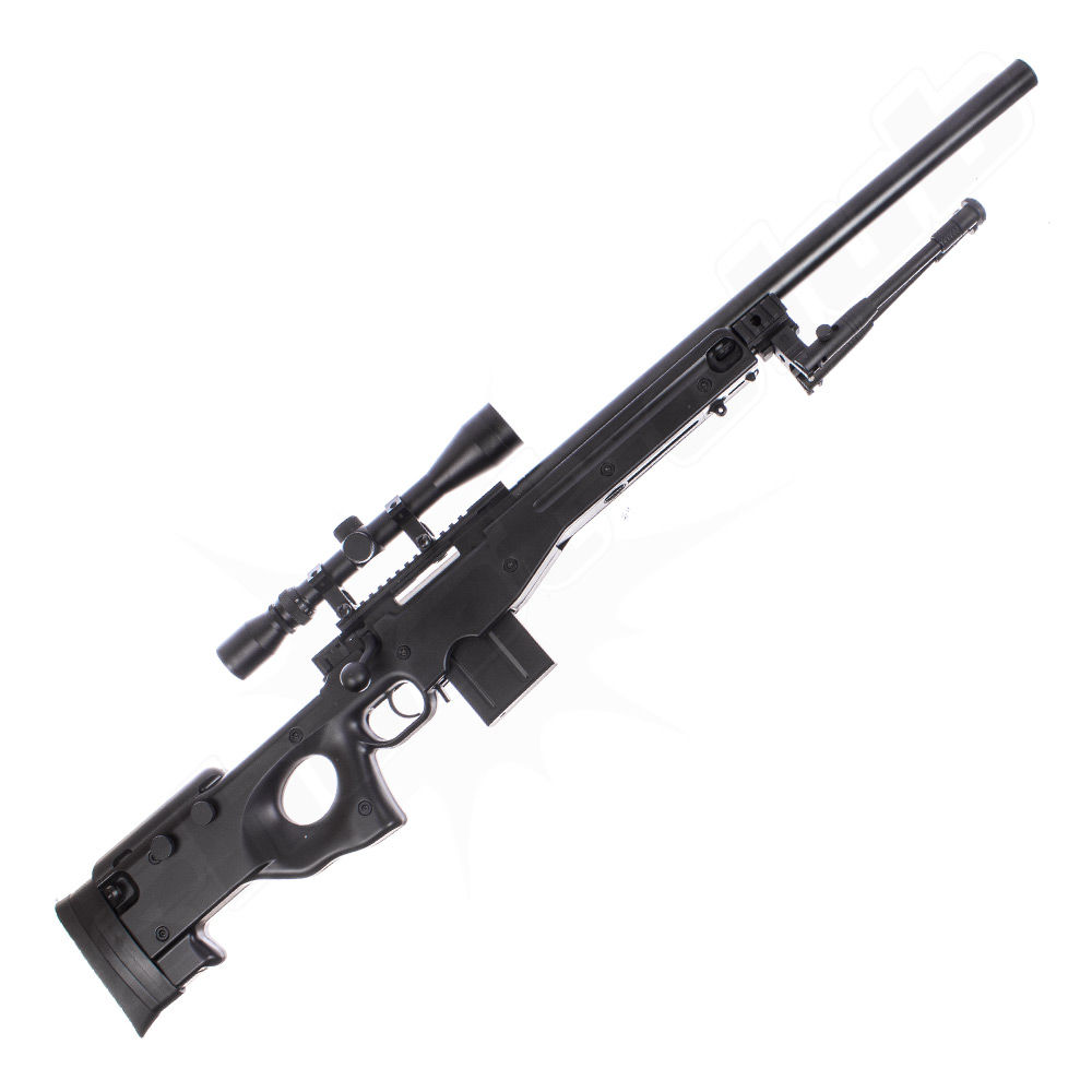 Well MB4402 AWP Airsoft Sniper Starter Set Schwarz Bild 2
