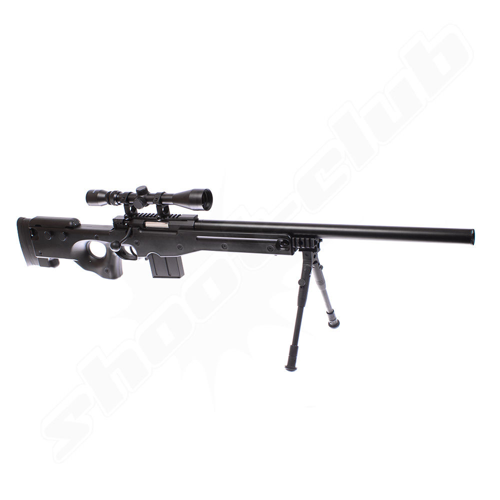 Well MB4402 AWP Airsoft Sniper Starter Set Schwarz Bild 4