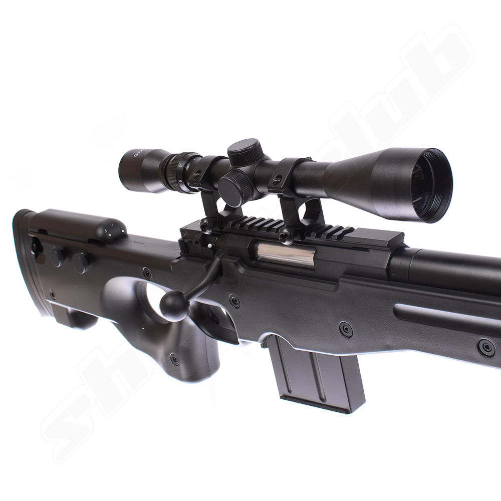 Well MB4402 AWP Airsoft Sniper Starter Set Schwarz Bild 5