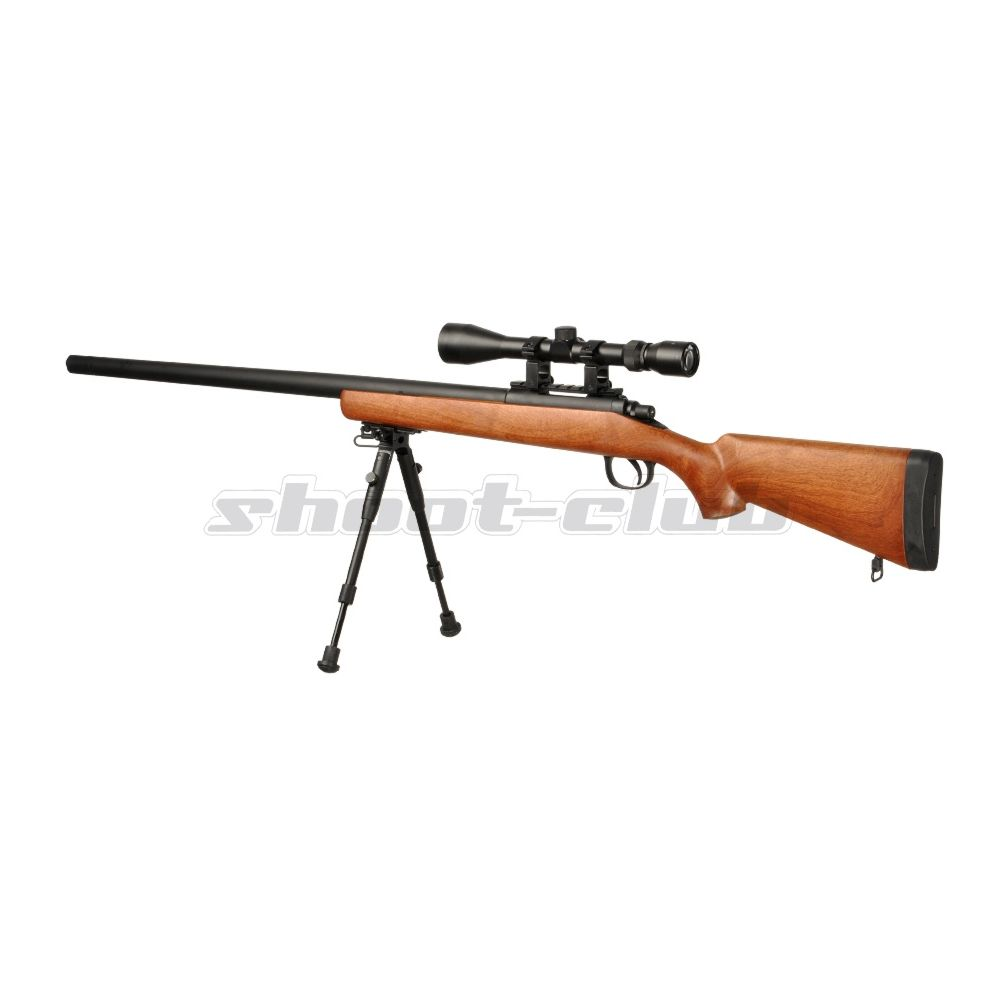 Well MB02 6mm Airsoft Sniper Set SR-1 Holzoptik Bild 2
