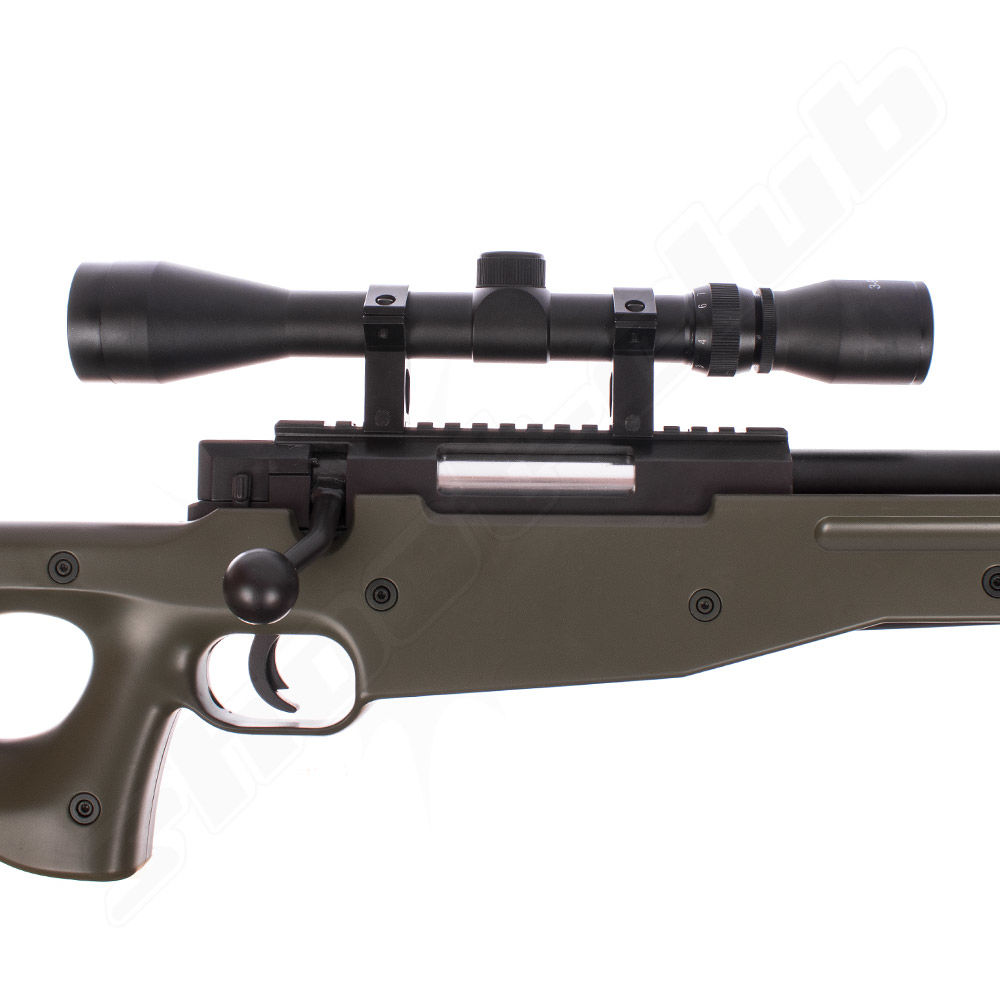 Well L96 MB-01 Airsoft Sniper Set Upgraded 6mm - OD Green Bild 4