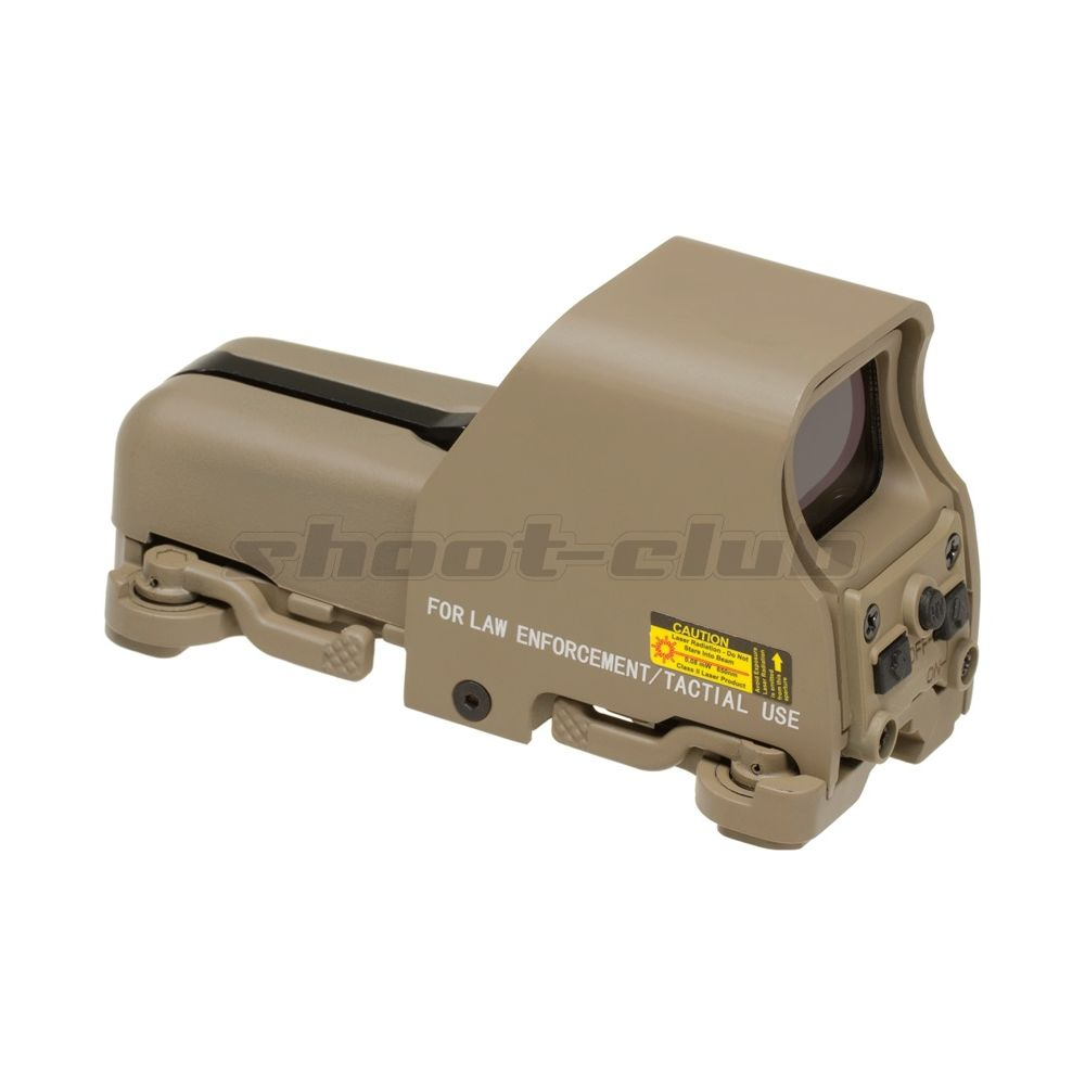 Aim-O Airsoft Red Dot Sight Holo553 Style QD-Mount - TAN Bild 2