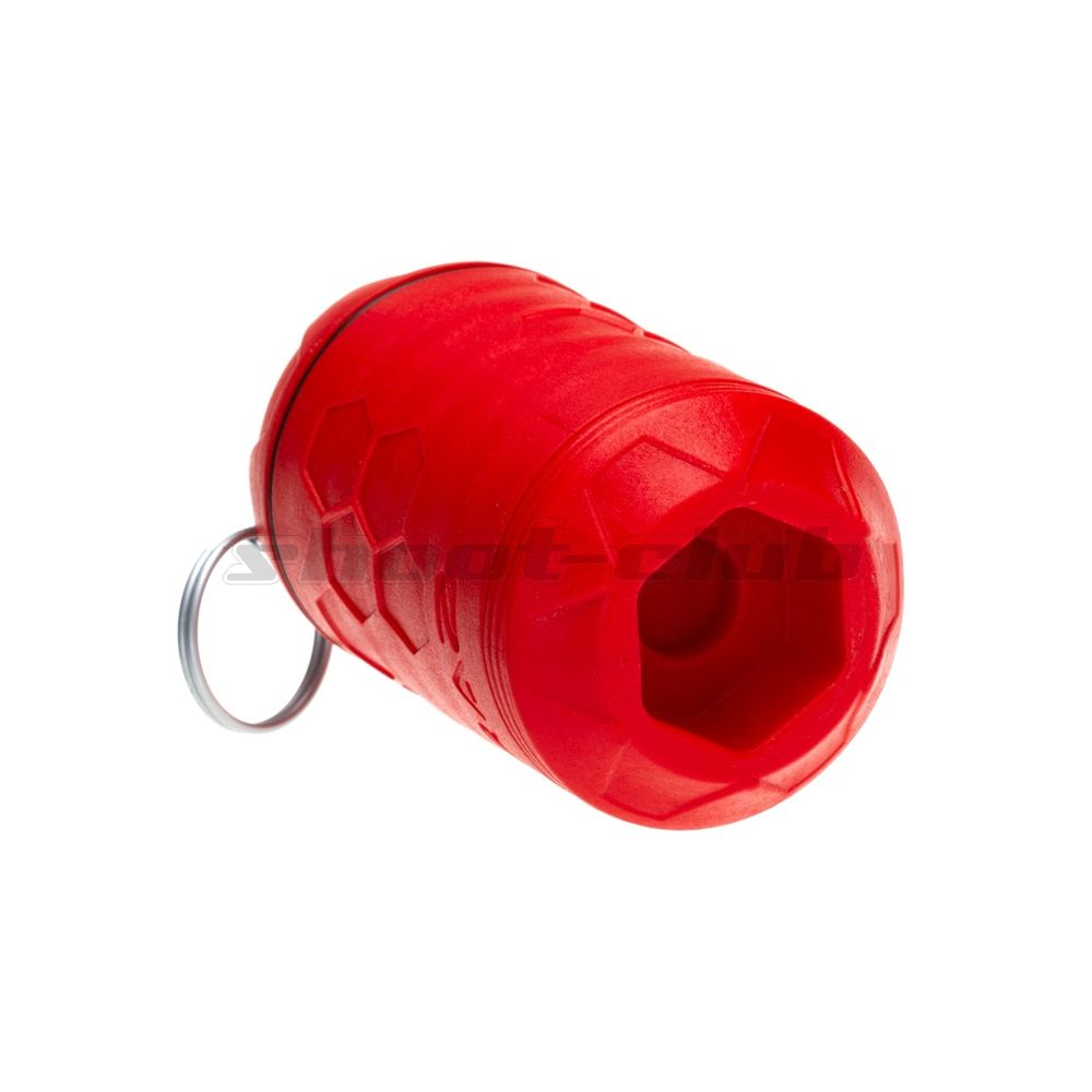 Z-Parts E-RAZ Impact Grenade - Gas Airsoft Granate - Rot Bild 3