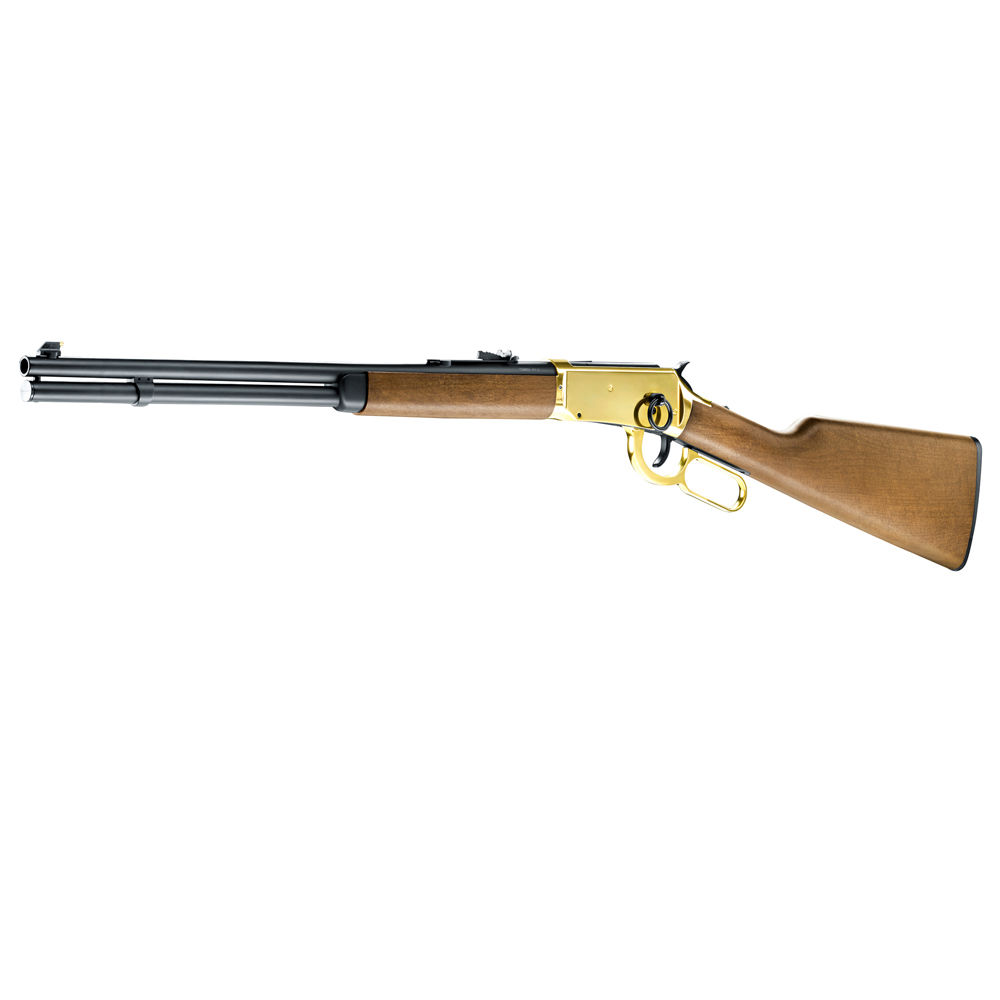 Legends Cowboy Rifle CO2 Gewehr 4,5 mm Stahl BBs - goldener Systemkasten Bild 3