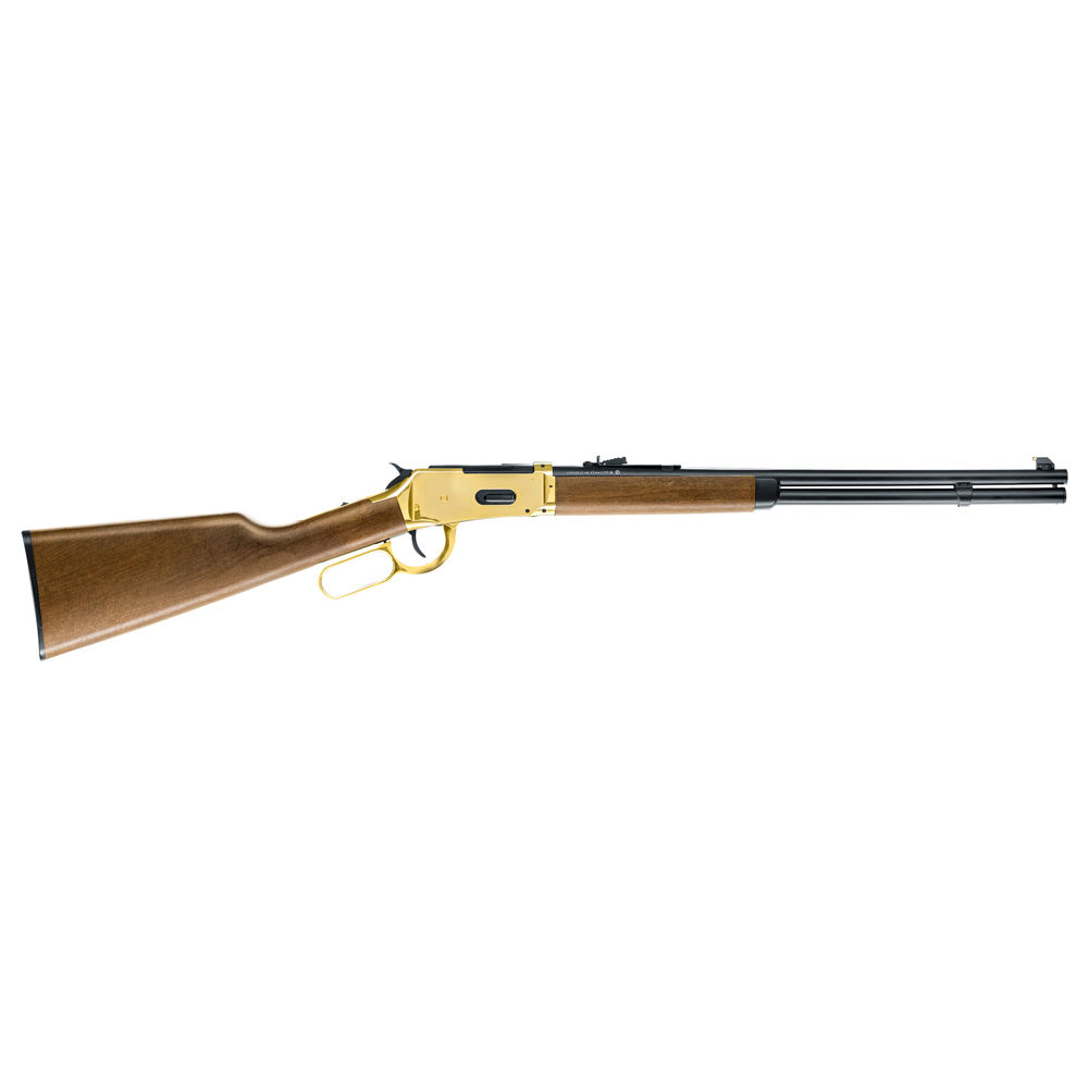 Legends Cowboy Rifle CO2 Gewehr 4,5 mm Stahl BBs - goldener Systemkasten Bild 2