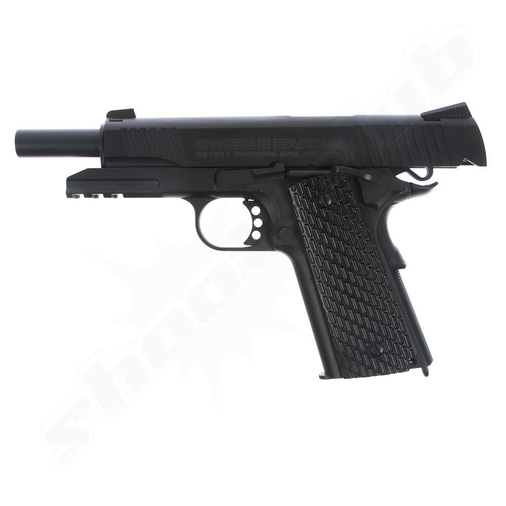 Swiss Arms SA 1911 TRS CO2 Pistole im Kaliber 4,5 mm BB - KWC Bild 4