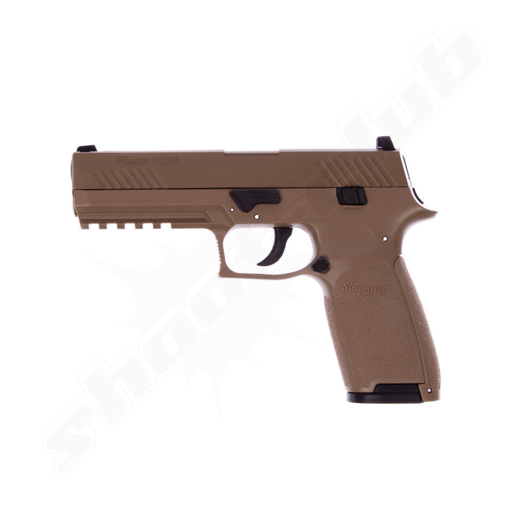 Sig Sauer CO2 BlowBack Pistole P320 4,5mm BBs coyote tan - Koffer-Set Bild 3