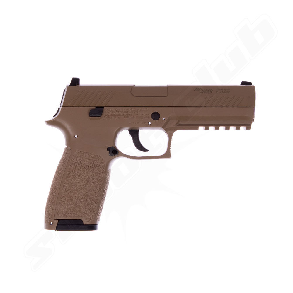 Sig Sauer CO2 BlowBack Pistole P320 4,5mm BBs coyote tan - Koffer-Set Bild 2