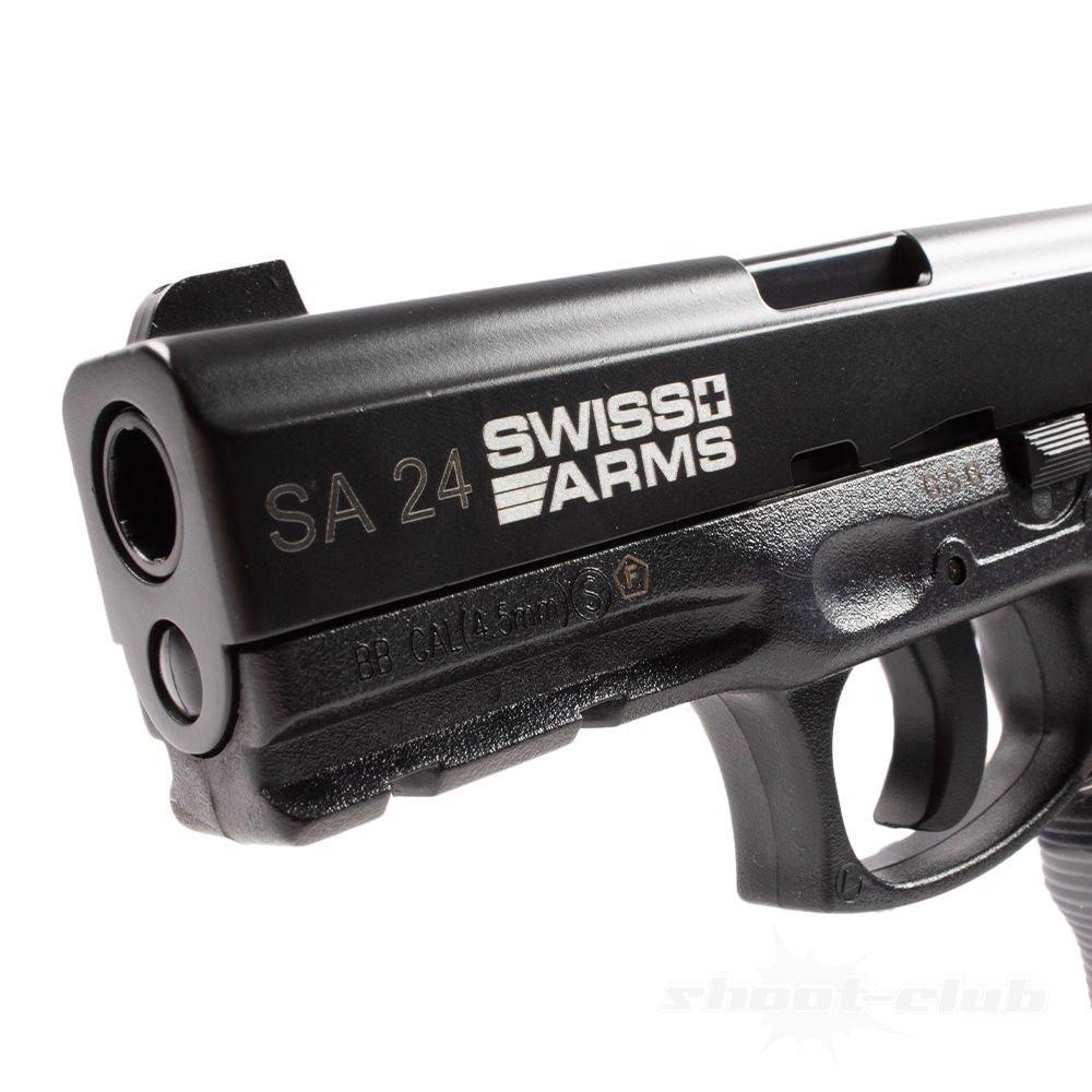 Swiss Arms S24 Co2 Pistole Non Blow Back 4,5mm BB Schwarz Bild 3