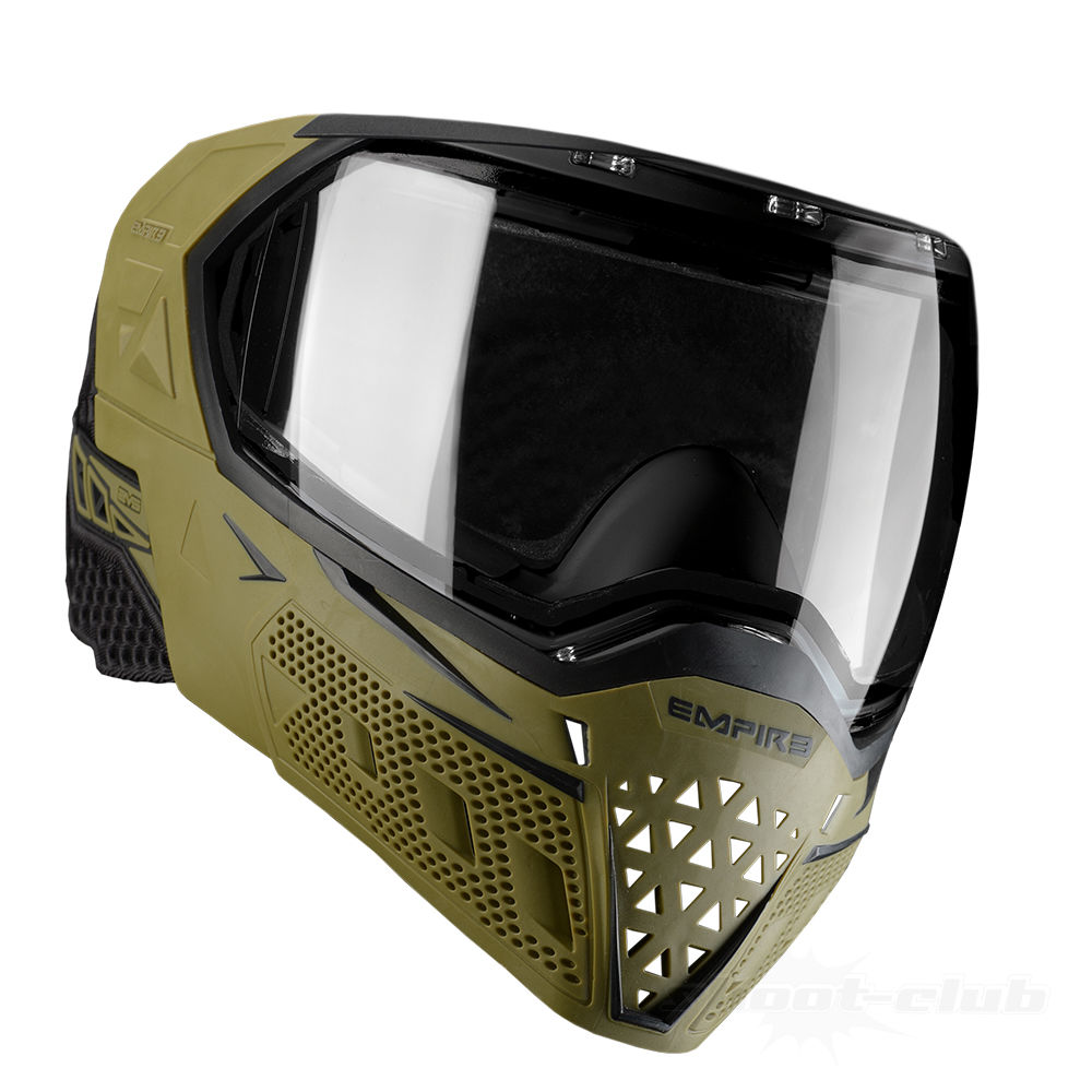 Empire EVS Thermal Maske f. Paintball/Airsoft+Thermalglas Clear-Olive/Black Bild 2