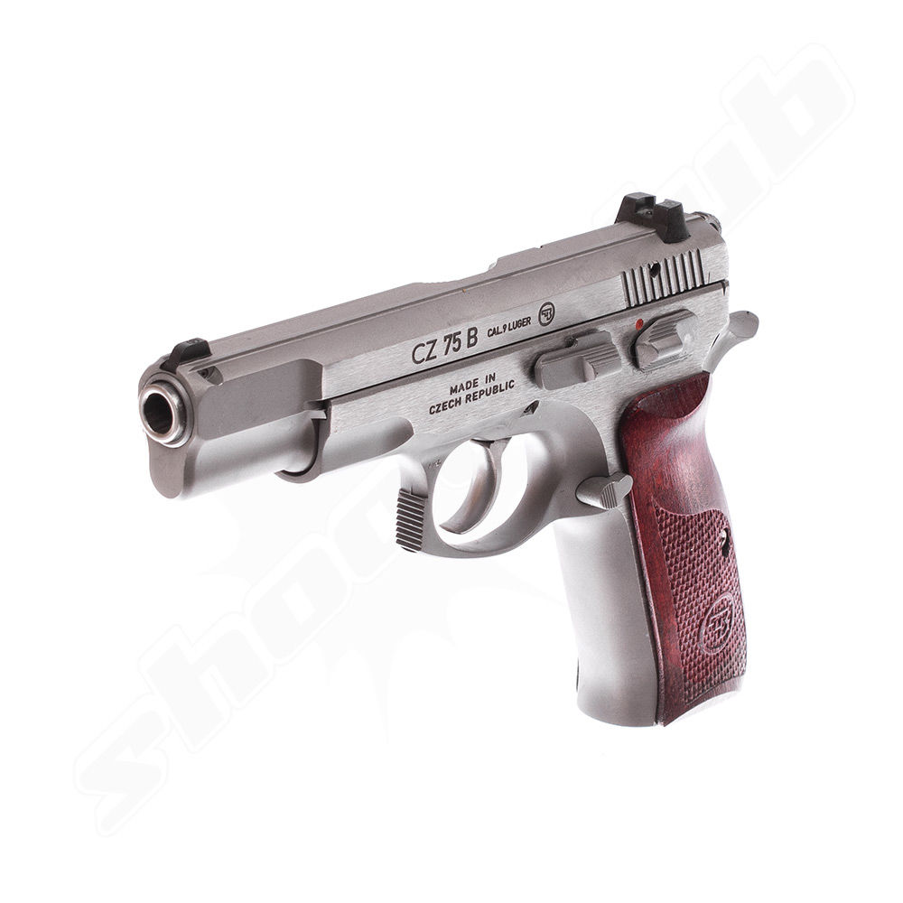 CZ 75B New Edition - Stainless Pistole - Kal. 9mm Luger Bild 3