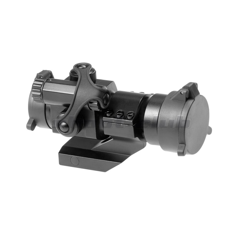 AIM-O M2 Airsoft Red Dot Sight inkl. Cantilever Mount - Black Bild 2