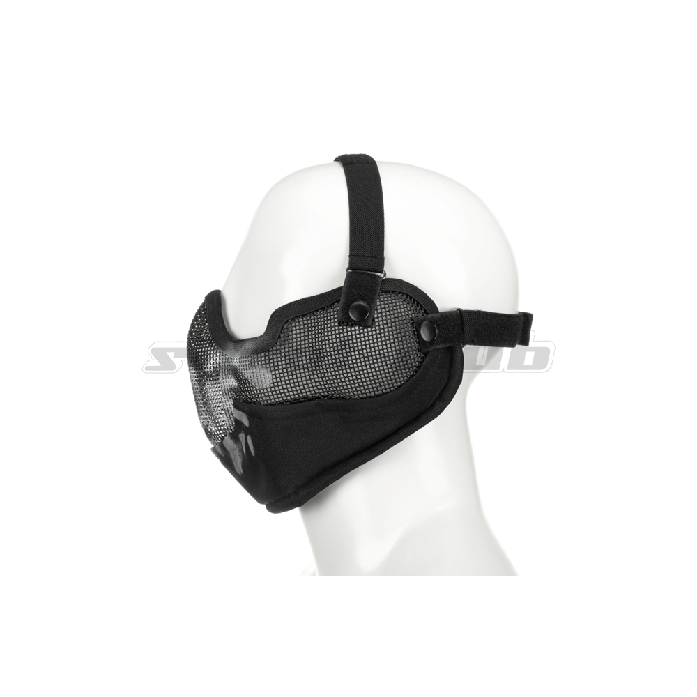 Invader Gear Steel Face mask - Black / Skull Bild 2