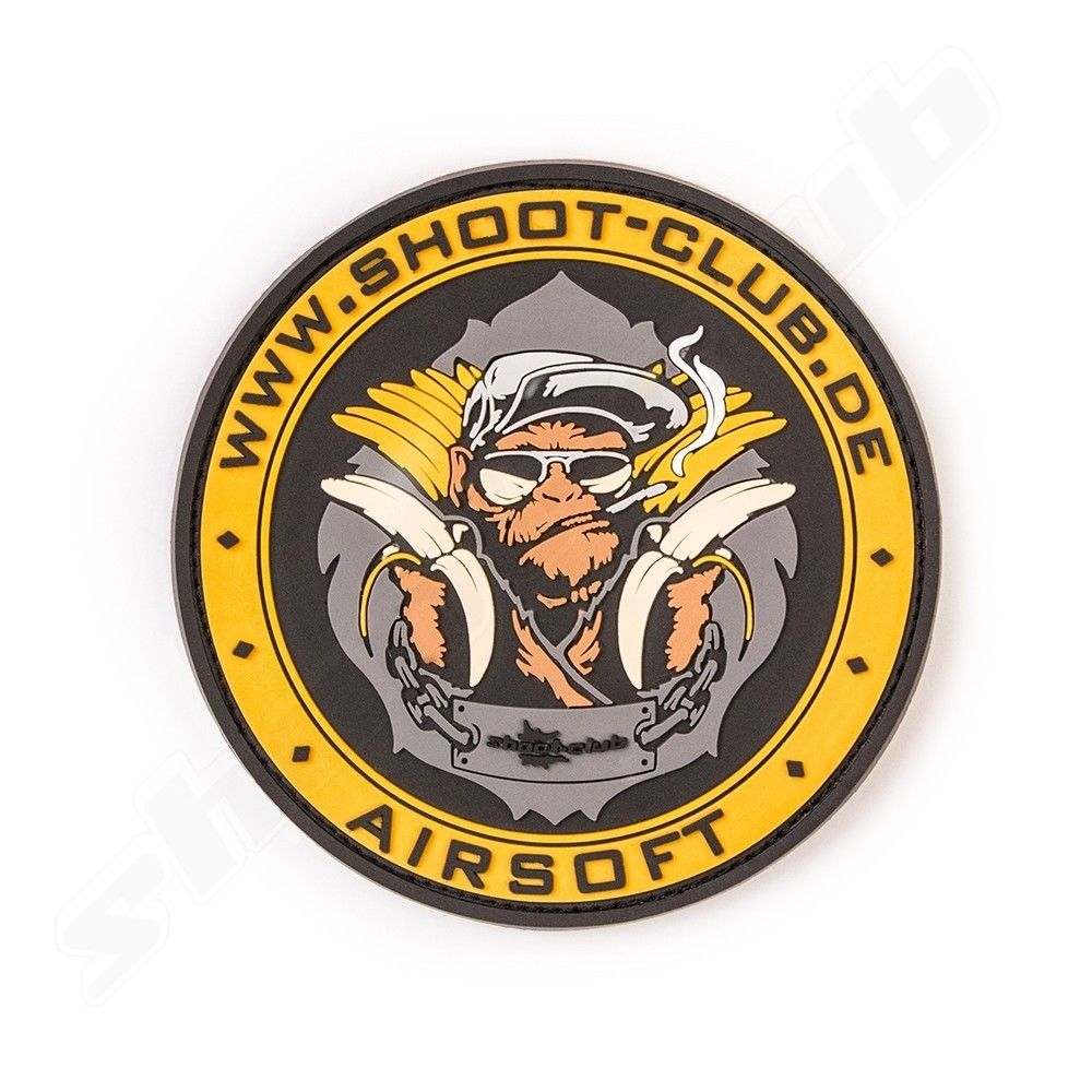 3D Rubber Patch - shoot-club - Airsoft Monkey