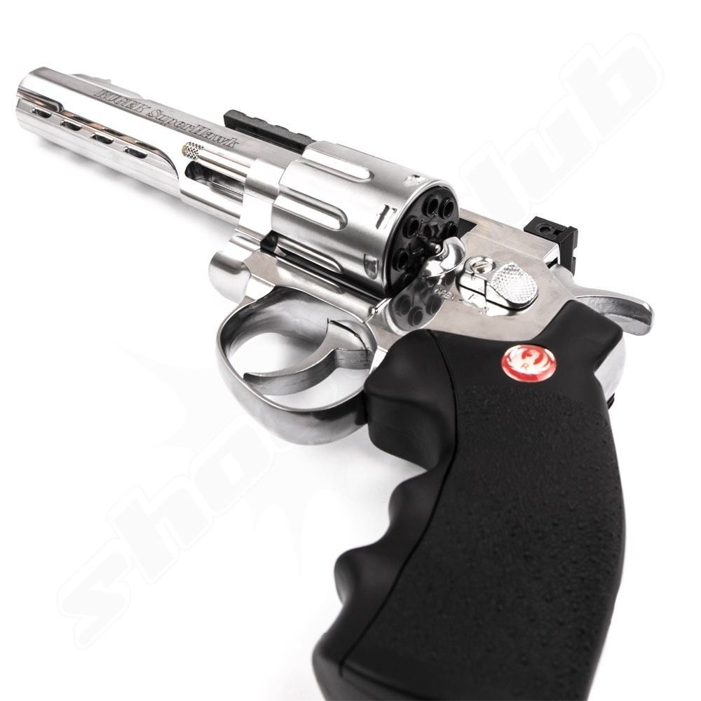 Ruger Super Hawk Softair CO2 Revolver chrom - 6 Zoll Bild 2