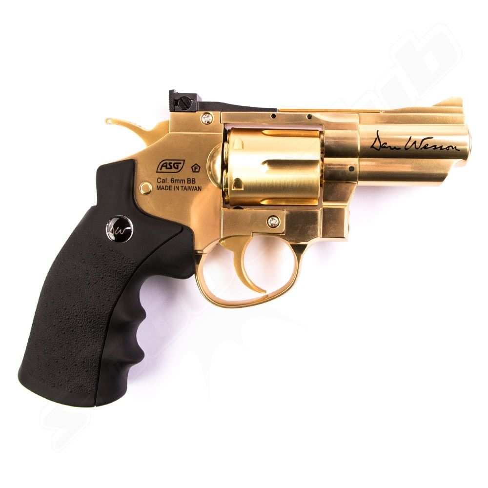 Dan Wesson CO2 Revolver 2,5 Zoll Softair 6mm - Gold Bild 2