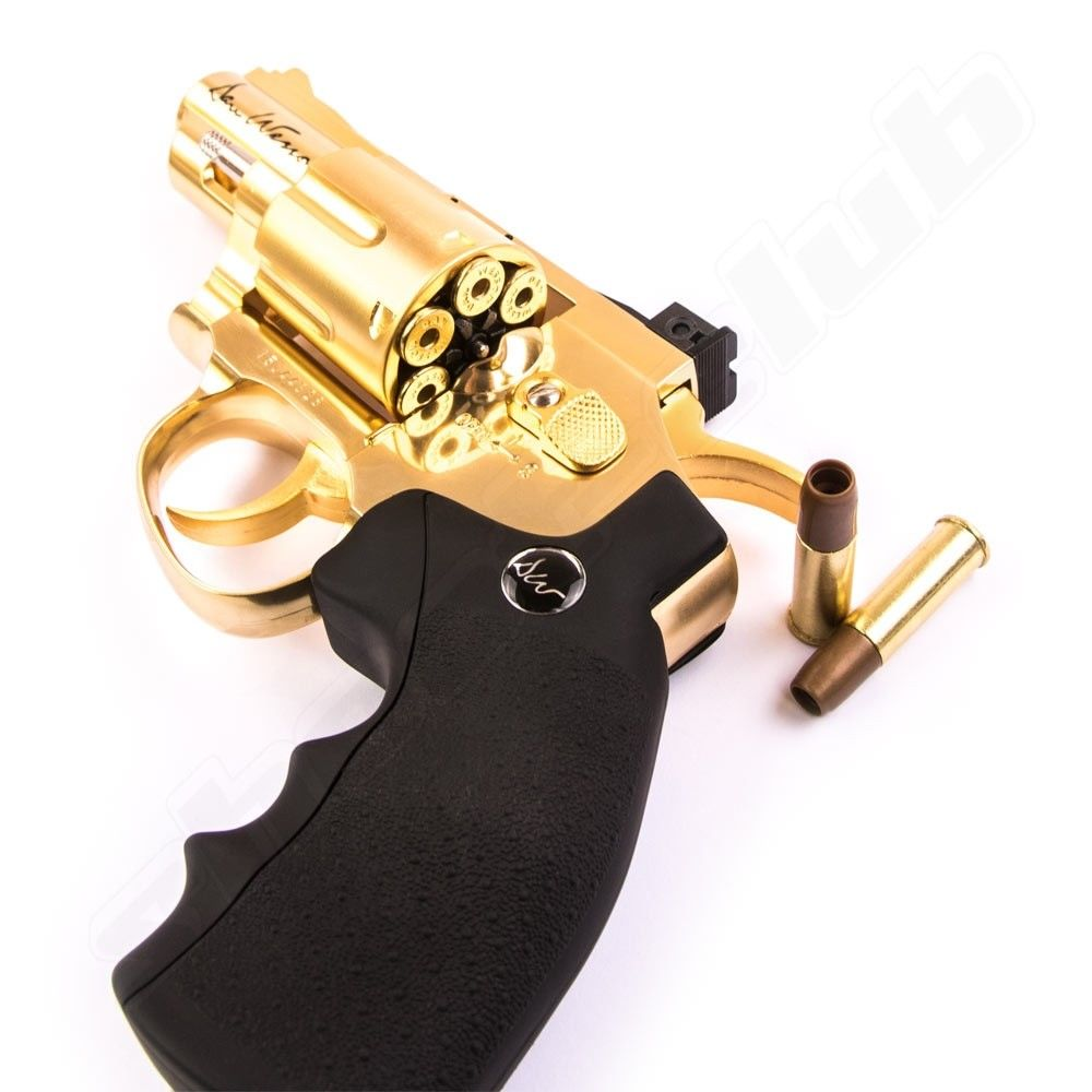 Dan Wesson CO2 Revolver 2,5 Zoll Softair 6mm - Gold Bild 3