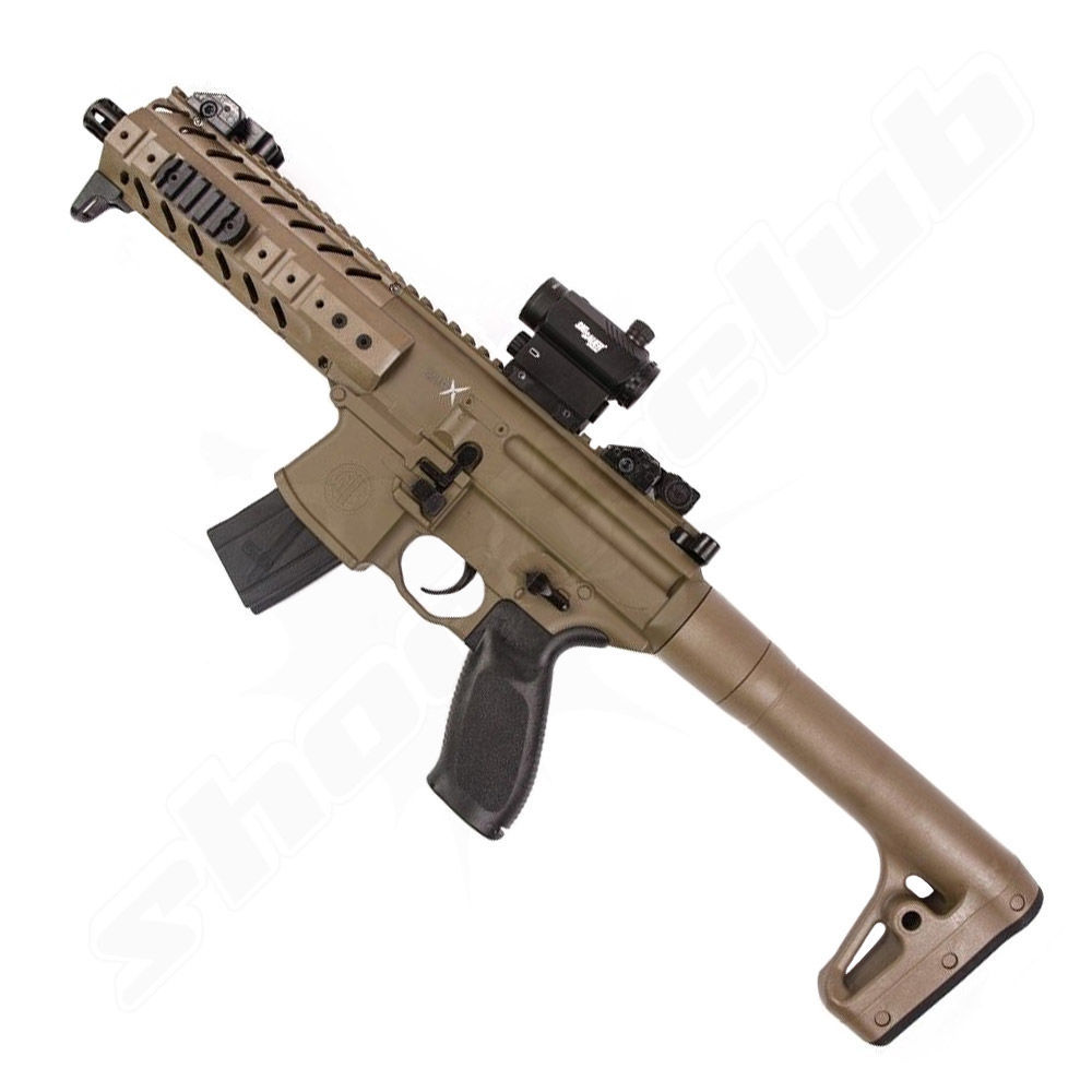 CO2 Gewehr Sig Sauer MPX Kaliber 4,5mm Diabolos - Dark Earth